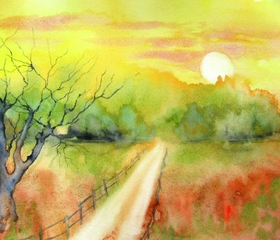 Lonely road by BlueCaroline