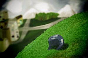 The Helmet On The Hill by coinoperatedbear