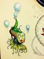 Part of a wall mural I'm working on by RomeyArt