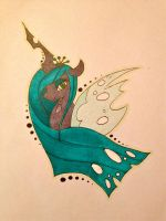 Queen Chrysalis Tattoo Design by Lil-Penguins