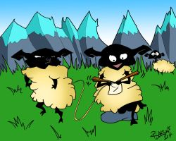 Knitting Sheep by quentinlars