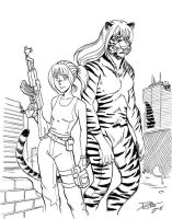 Tiger and Girl by dirktiede