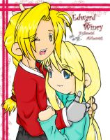 + Hagaren - Edward and Winry + by Ashtina