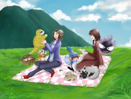 +PKMN- Picnic time by Goloritze
