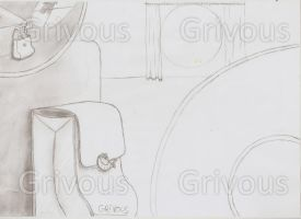 Mysterious Scene_sketch01 by Grivous