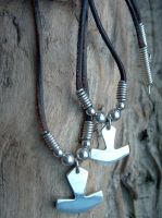 HANDMADE STERLING SILVER THOR HAMMER NECKLACES by StudMarcs