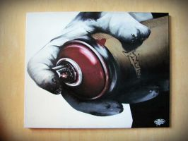 aerosol, canvas by AESYONE