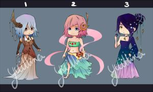 Adoptables: Fantasy Theme [CLOSED] by yuillna