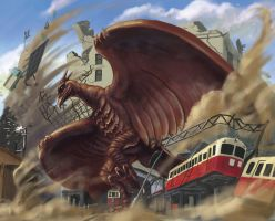 Rodan Coming by fcaiser