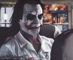 Joker on the bus ACEO by sullen-skrewt
