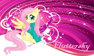 Fluttershy Wallpaper by Rainbow-Liz