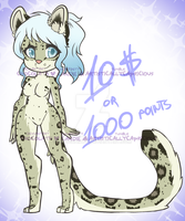 Snow Leopard Adopt [CLOSED] by miulk