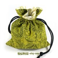 Wilderness Whimsy Printed Cotton Dice Bag by Pasiphilo