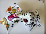 Funky Zebra Bow Bobby Pin by kjtgp1