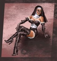 Burlesque Nun by quotidia