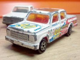 Ford Crew And A Chevy Work Truck by happymouse666