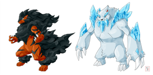 Commission .:Fire + Ice evo:. by Icandoittoo