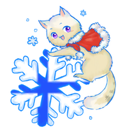 APH - Blue and White Snowflakes by PuniBuni