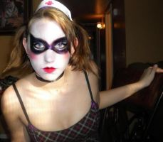 Harley Quinn Arkham makeup by angelspast