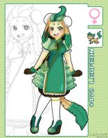 Leafeon Lolita Adopt Sheet for ChuiKamashi by azume-adopts