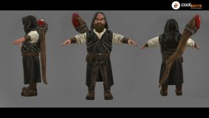 Commission:  3d Model  viking wizard by CoolBoysEnt