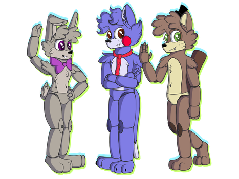 The Rabbit, the Cat and the Weasel by vvthegiraffe