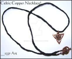 Celtic Copper Necklace by 1337-Art