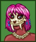 Skull girl by flaming-trout
