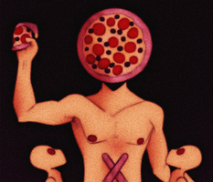 all hail the mighty pizza god by paIesmoke