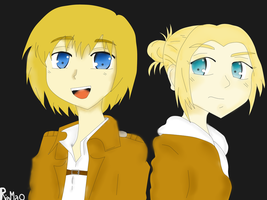 Armin and Annie~ by RinMaO
