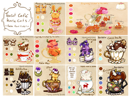 SouthernBelle Teacatcafe house cats! by scribblin