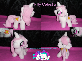 Filly Celestia Plush by Celestia-In-Love