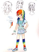 Rainbow Dash Human by TsukineSara