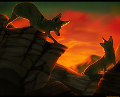 Sunset Hunters by Daesiy