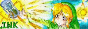 LoZ: PH Bookmark: Link by LuckyBlackCatXIII