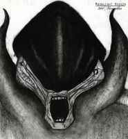 Alien done in Charcoal by Velvet-Vernorexia