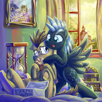 Captain Jack and Doctor Whooves by saturnspace
