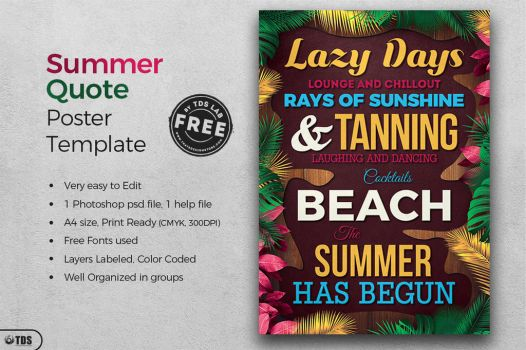 FREE Summer Quote Template by Thats-Design