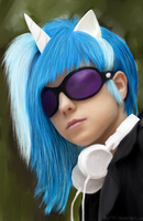 Vinyl Scratch cosplay (drawing) by Lali-the-Bunny