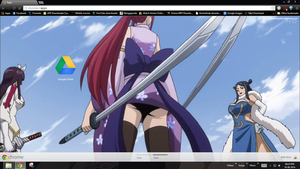 Erza tight ass standoff Fairy tail chrome theme by by Prasad9323