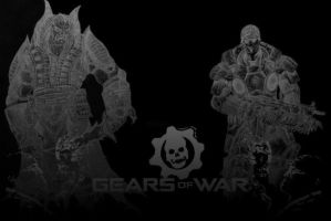 Gears of Wallpaper Black Versi by Lumit