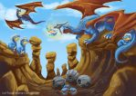 Salamence Canyon by theCoffeeDragon