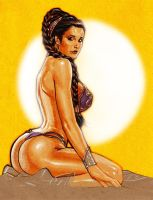 Princess Leia in Slave Outfit by LOPEZMICHAEL