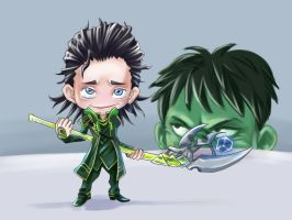 Puny GOD... (Loki Avengers fan art) by Xavy-027