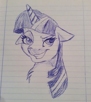 Scetch twilight sparkle by Doraloveu