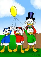 +:Three Ducklings, one Ballon:+ by Knarand