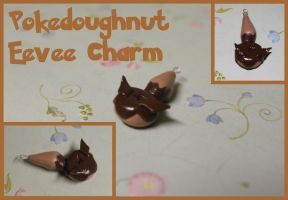 Eevee Pokedoughnut Necklace Charm by picklelicker129
