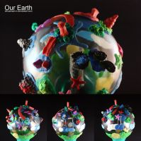 Our Earth in Clay on the Dead Lamp by lehoainamvn