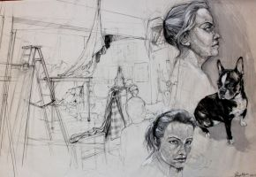 Drawing II: Classroom Studies: Final by Chipo-H0P3