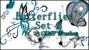 GIMP Butterflies Set 2 by Illyera
